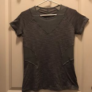 Lululemon light grey athletic top.
